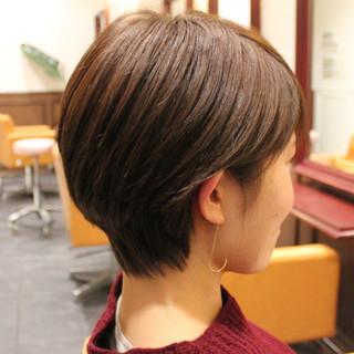 ショート ナチュラル ショートボブ ストレート ヘアスタイルや髪型の写真・画像 ヘアスタイルや髪型の写真・画像