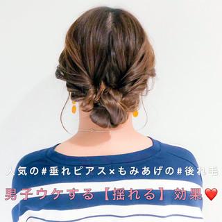 セルフアレンジ アップスタイル ロング 簡単ヘアアレンジ ヘアスタイルや髪型の写真・画像