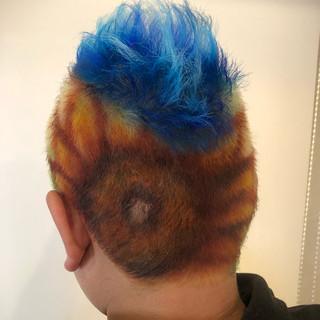 ストリート メンズ ボーイッシュ 個性的 ヘアスタイルや髪型の写真・画像 ヘアスタイルや髪型の写真・画像