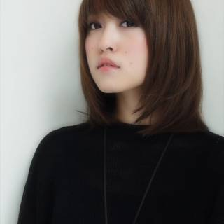 モード ベース型 大人女子 暗髪 ヘアスタイルや髪型の写真・画像