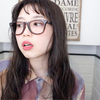セミロング 外国人風 ミルクティー アッシュ ヘアスタイルや髪型の写真・画像