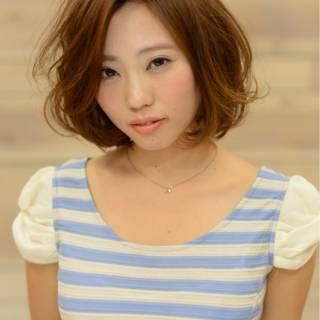 大人かわいい ボブ ストリート 外国人風 ヘアスタイルや髪型の写真・画像
