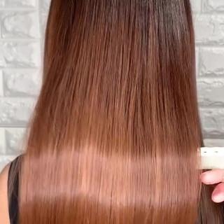 セミロング 美髪 髪質改善 髪質改善トリートメント ヘアスタイルや髪型の写真・画像