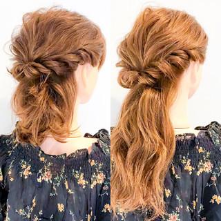ロング エレガント 簡単ヘアアレンジ セルフヘアアレンジ ヘアスタイルや髪型の写真・画像 ヘアスタイルや髪型の写真・画像