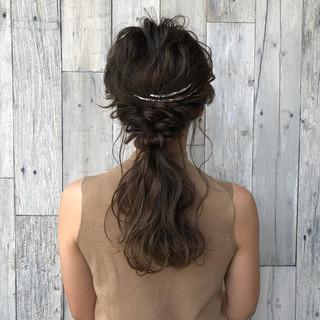 エレガント 上品 簡単ヘアアレンジ 透明感 ヘアスタイルや髪型の写真・画像