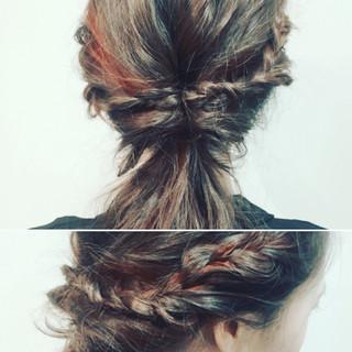 くるりんぱ ショート ロング 簡単ヘアアレンジ ヘアスタイルや髪型の写真・画像