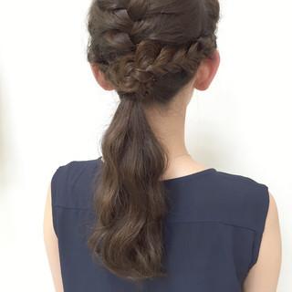 愛され ポニーテール ヘアアレンジ ショート ヘアスタイルや髪型の写真・画像