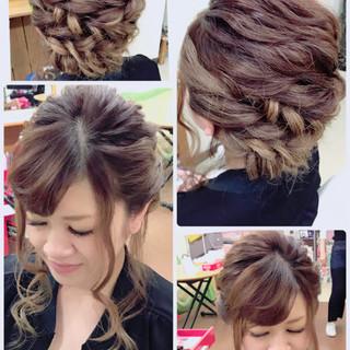 セミロング パーティ デート ヘアアレンジ ヘアスタイルや髪型の写真・画像 ヘアスタイルや髪型の写真・画像