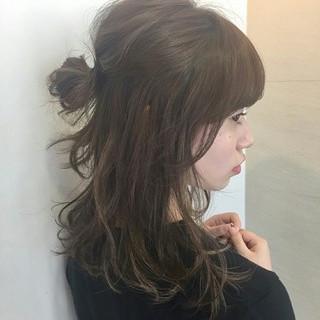 ナチュラル ハーフアップ ショート 簡単ヘアアレンジ ヘアスタイルや髪型の写真・画像 ヘアスタイルや髪型の写真・画像