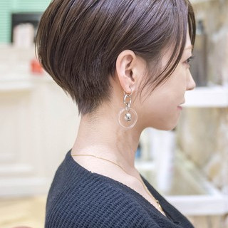 ショートヘア エレガント ショートカット ショート ヘアスタイルや髪型の写真・画像