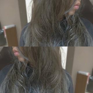 ストリート グレージュ ヘアアレンジ アッシュ ヘアスタイルや髪型の写真・画像