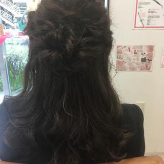 ミディアム ヘアアレンジ エレガント 上品 ヘアスタイルや髪型の写真・画像