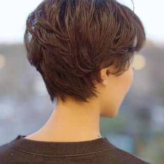 ベリーショート ミニボブ 大人ショート ナチュラル ヘアスタイルや髪型の写真・画像
