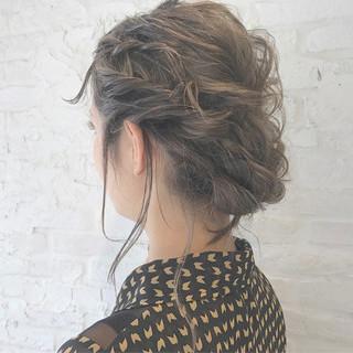 ナチュラル ヘアアレンジ 結婚式 ハイライト ヘアスタイルや髪型の写真・画像