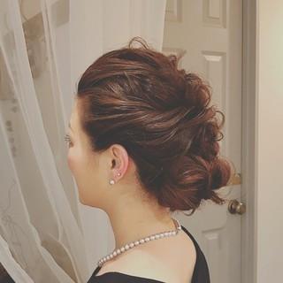 クリスマス 冬 フェミニン ロング ヘアスタイルや髪型の写真・画像