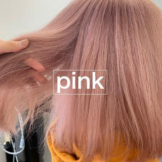 ピンクベージュ ピンク ミルクティーベージュ モード ヘアスタイルや髪型の写真・画像