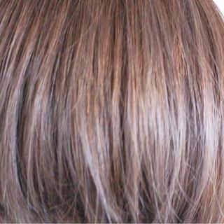 ナチュラル パープル ラベンダー ボブ ヘアスタイルや髪型の写真・画像