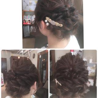 編み込み ショート 波ウェーブ 簡単ヘアアレンジ ヘアスタイルや髪型の写真・画像