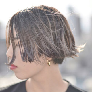 グラデーションカラー 外国人風 アッシュ ストリート ヘアスタイルや髪型の写真・画像 ヘアスタイルや髪型の写真・画像