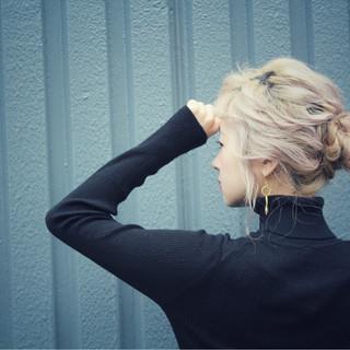 ナチュラル 簡単ヘアアレンジ 大人女子 ショート ヘアスタイルや髪型の写真・画像