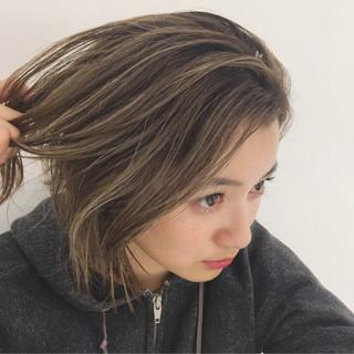 外国人風カラー 外国人風 ボブ 透明感 ヘアスタイルや髪型の写真・画像