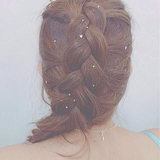 編み込み ヘアアレンジ 簡単ヘアアレンジ まとめ髪 ヘアスタイルや髪型の写真・画像 ヘアスタイルや髪型の写真・画像