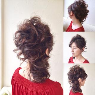エレガント 上品 結婚式 ミディアム ヘアスタイルや髪型の写真・画像