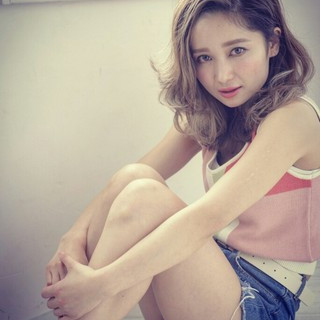 ミディアム 大人かわいい 外国人風 ハイライト ヘアスタイルや髪型の写真・画像