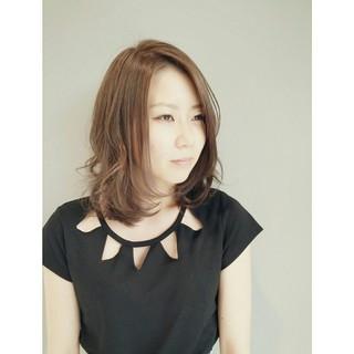 暗髪 透明感 フェミニン 大人かわいい ヘアスタイルや髪型の写真・画像