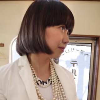 ラベンダーアッシュ ボブ ストリート ダークアッシュ ヘアスタイルや髪型の写真・画像