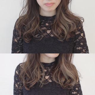 秋 グラデーションカラー 透明感 インナーカラー ヘアスタイルや髪型の写真・画像