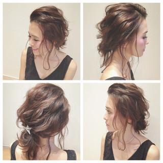 ショート ヘアアレンジ ゆるふわ ブライダル ヘアスタイルや髪型の写真・画像 ヘアスタイルや髪型の写真・画像