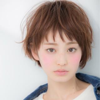 色気 ショート ガーリー 大人女子 ヘアスタイルや髪型の写真・画像