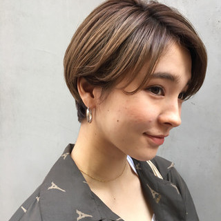 ナチュラル ショート 比留川游 似合わせ ヘアスタイルや髪型の写真・画像