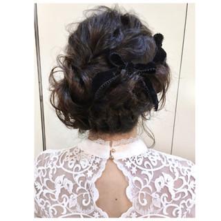 簡単ヘアアレンジ ヘアアレンジ ミディアム 編み込み ヘアスタイルや髪型の写真・画像 ヘアスタイルや髪型の写真・画像