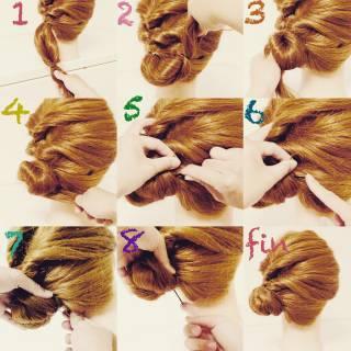 セルフヘアアレンジ 夏 ショート セミロング ヘアスタイルや髪型の写真・画像 ヘアスタイルや髪型の写真・画像