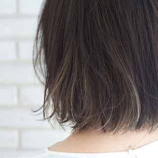 外国人風カラー 雨の日 ボブ 梅雨 ヘアスタイルや髪型の写真・画像