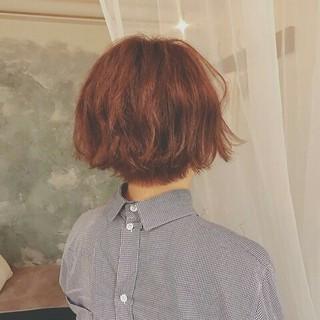 秋 ナチュラル 色気 ボブ ヘアスタイルや髪型の写真・画像