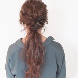 結婚式 ロング ゆるふわ ヘアアレンジ ヘアスタイルや髪型の写真・画像