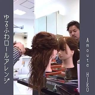 ルーズ 結婚式 大人かわいい フェミニン ヘアスタイルや髪型の写真・画像