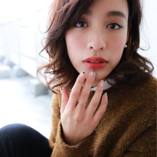 ニュアンス コンサバ 大人女子 小顔 ヘアスタイルや髪型の写真・画像