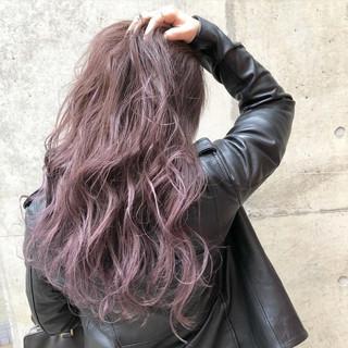ストリート ラベンダー ラベンダーアッシュ グラデーションカラー ヘアスタイルや髪型の写真・画像