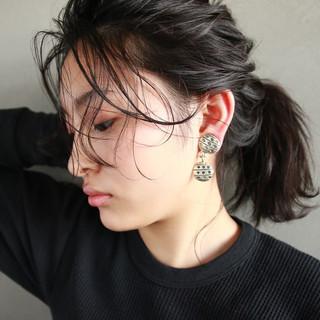ミディアム 外国人風 ショート ヘアアレンジ ヘアスタイルや髪型の写真・画像