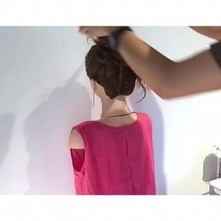 ヘアアレンジ フェミニン アウトドア 簡単ヘアアレンジ ヘアスタイルや髪型の写真・画像