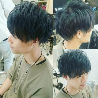 ストリート ボーイッシュ 黒髪 ショート ヘアスタイルや髪型の写真・画像