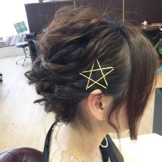 簡単ヘアアレンジ アップスタイル 結婚式 ルーズ ヘアスタイルや髪型の写真・画像