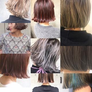 色気 ニュアンス モード ミルクティー ヘアスタイルや髪型の写真・画像