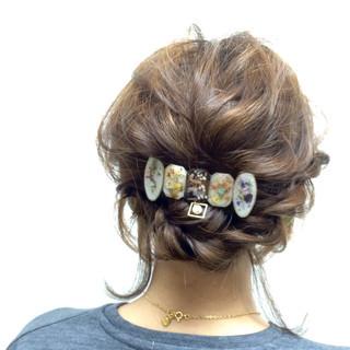 花嫁 結婚式 ヘアアレンジ 大人かわいい ヘアスタイルや髪型の写真・画像