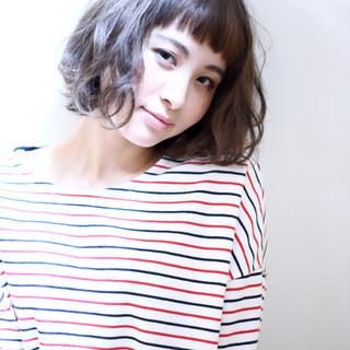 ボブ 外国人風 ウェーブ ストリート ヘアスタイルや髪型の写真・画像
