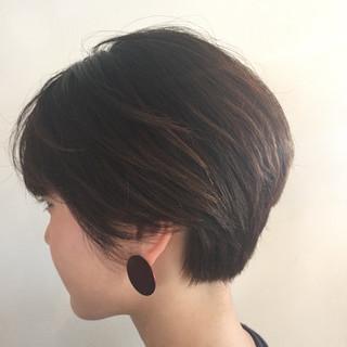 耳かけ ショート ストリート 小顔 ヘアスタイルや髪型の写真・画像 ヘアスタイルや髪型の写真・画像